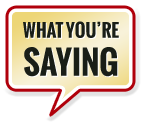 A speech bubble inviting the user to read reviews